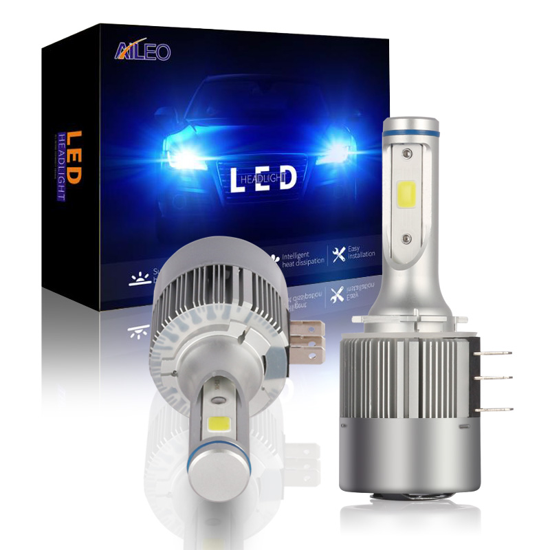 Aileo alta potência cob chip h15 led 8000lm 72w feixe alto farol luz de condução para audi mercedes benz bmw volkswagen golf mk6mk7