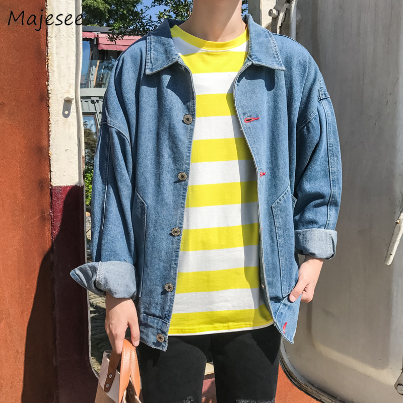 Jackets Men Plus Size Turn-down Collar Single Breasted Solid Simple All-match Korean Style Jacket Mens Trendy Harajuku Clothing