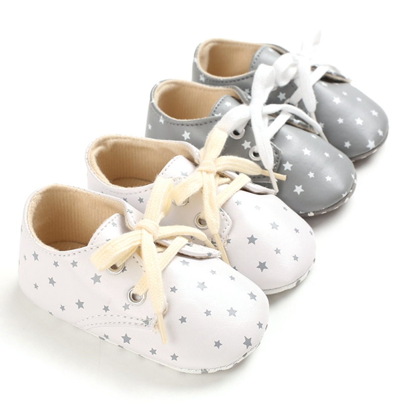 Newborn Infant First Walkers Toddler Casual Sport Crib Shoes Baby Infant Shoes Boy Girl Star Print Sneaker Cotton Sole Anti-Slip