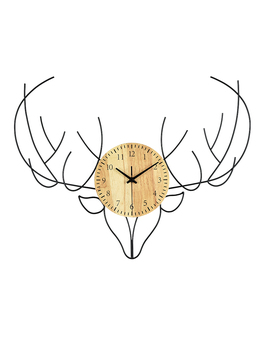 Wall Clock Living Room Home Deer Head Personality Creative Fashion  Nordic Decoration Bedroom Large  Hanging