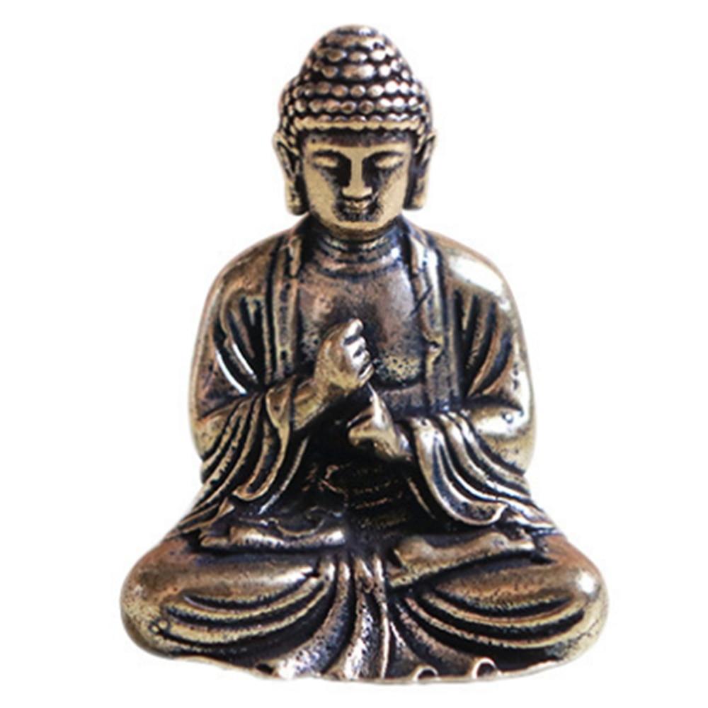 Buddha Statue Chinese Buddhism Sakyamuni Buddha Sculpture Statue Fengshui Ornament Miniature Home Decor
