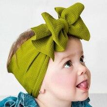 Solid Nylon Bow Baby Headbands For Girls Handmade Cute Elastic Knot Soft Baby Headband Hairband Newborn Infant Hair Accessories цена