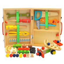 Toys Toolbox-Kit Construction-Toy Children-Set Learning-Engineering Wooden Educational