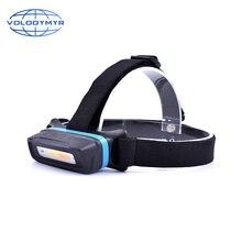 COB Led Headlamp Headlight Flashlight Torch USB Rechargeable Head Lamp for Car Inspection Polishing Finishing Camping Portable