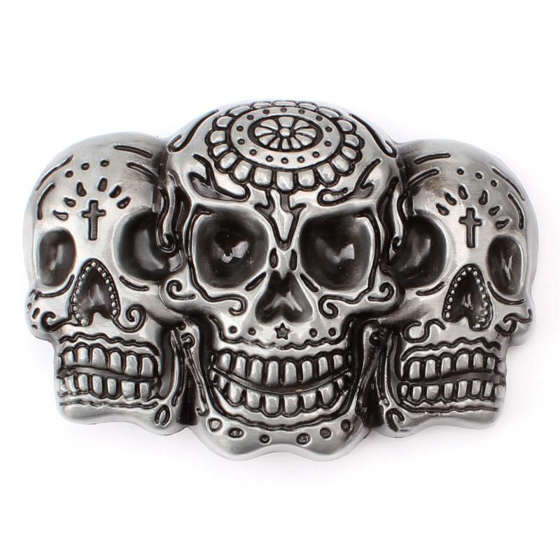Skull Skeleton Belt Buckle Belt DIY Accessories Western Cowboy Style Smooth Belt Buckle Punk Rock Style K21