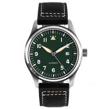 42mm Green Dial Spitfire Pilot Watch 5ATM JAPAN MIYOTA Autom