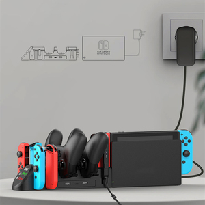 Image 4 - NEW 6 in 1 Multifunction Charger Stand Charging Dock For Nintend Switch Game Console Pro Controller Charger Stand Dock