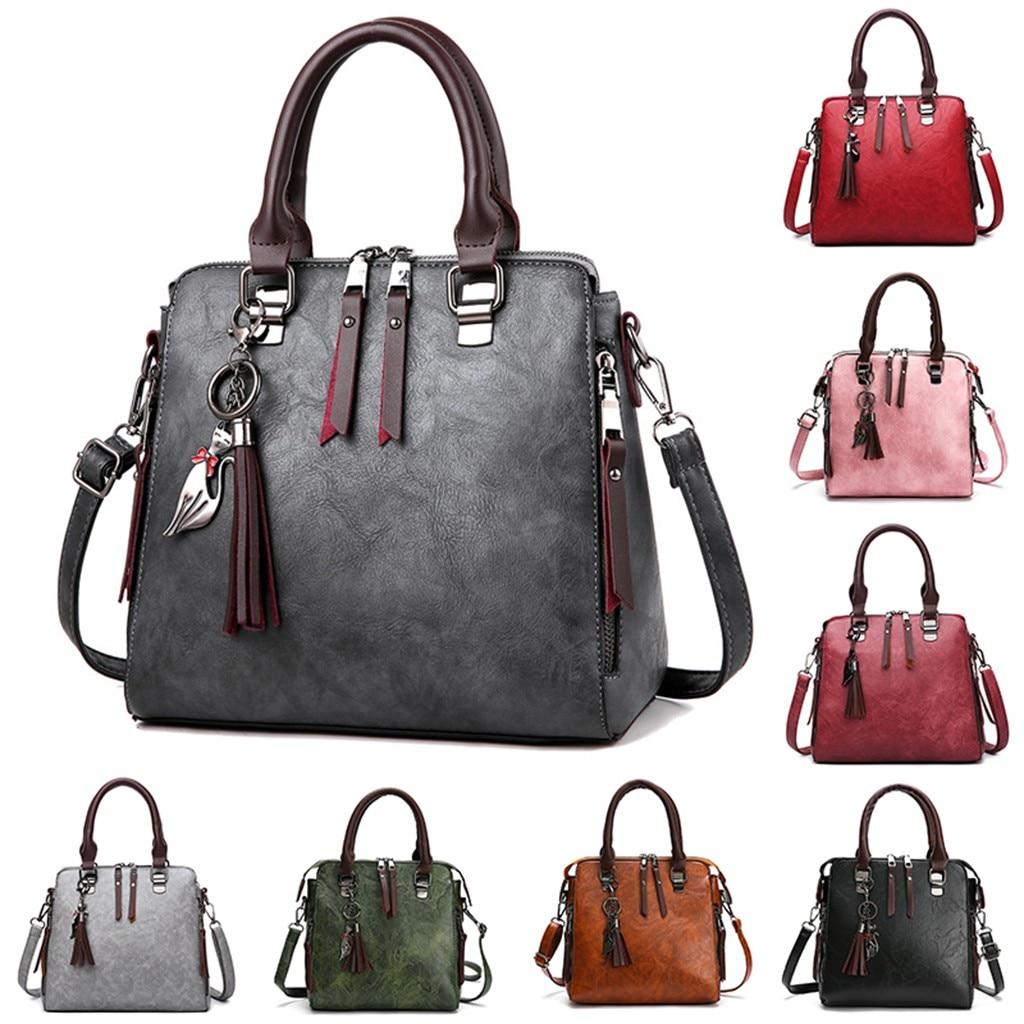 Pu Leather Handbags Purse 2020 Retro