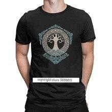 Vikings Valhalla Odin Yggdrasil – t-shirt arbre de vie pour hommes, Hipster Viking, Fitness, Premium, coton