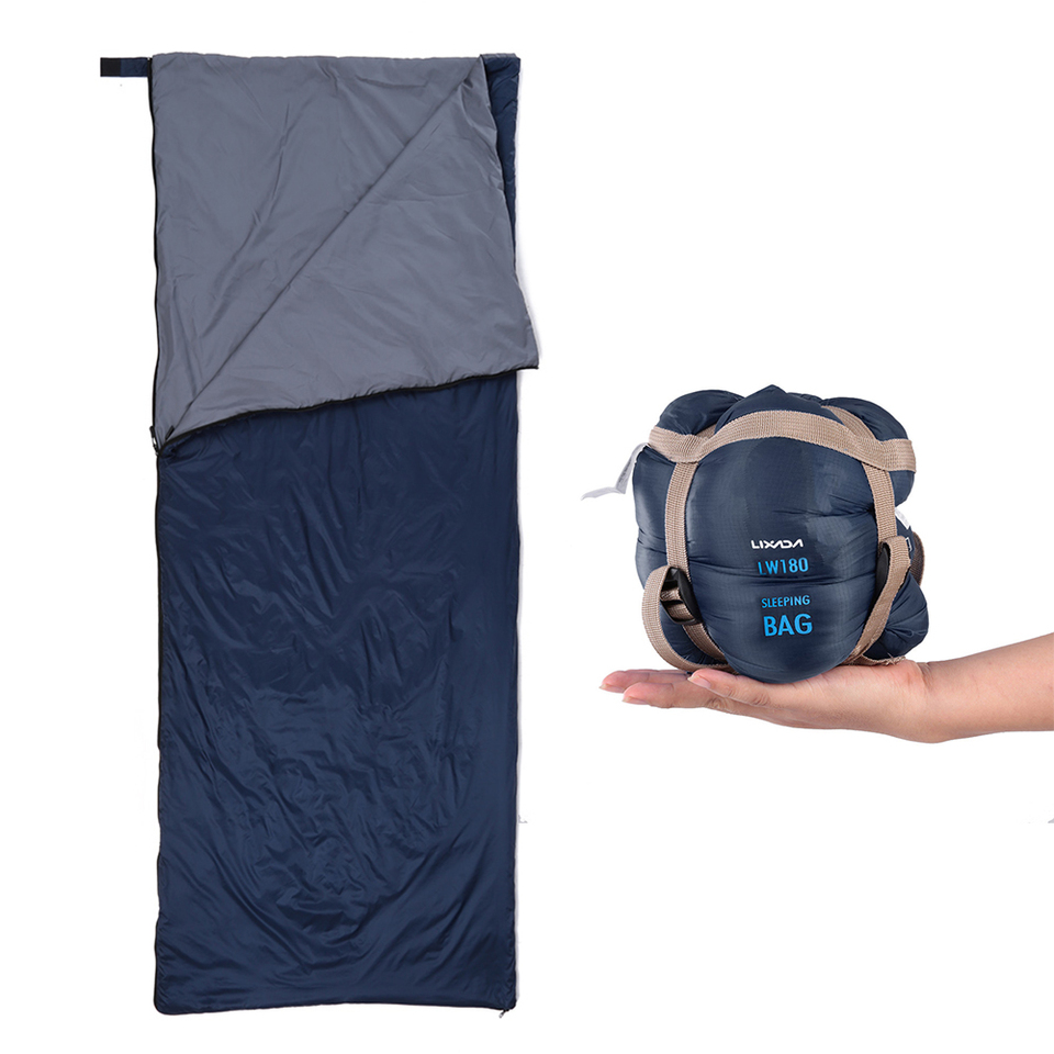 4 Seasons Sleeping Bag Ultra-light Outdoor Travel Hiking Thermal Hooded Envelope