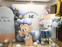 Baby Blue Balloon Arch// Blue Balloon Garland for First Birthday Boy Backdrop Party Decoration Baby Shower White Balloon Kit(China)