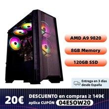 Funhouse gaming pc A9-A9820 8-core desktop apu r7 350 gpu ddr3 8g ram 120g ssd 2.35ghz em comparação com i5-7400 alto desempenho pc