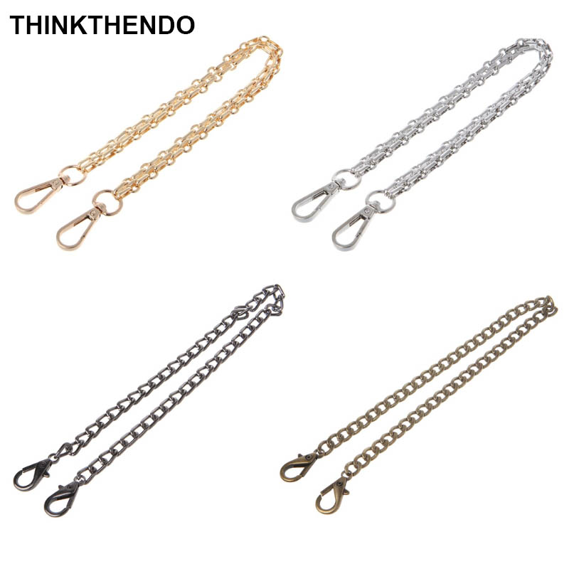 40cm Metal Purse Chain Strap Handle Shoulder Cross Body Bag Handbag Replacement DIY
