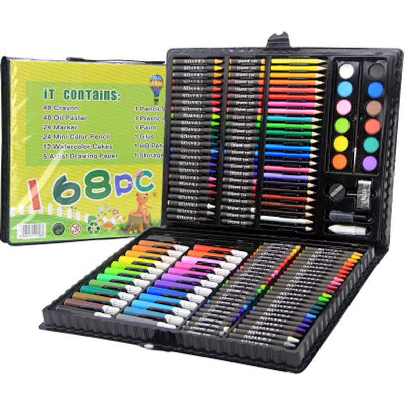 168pcs Mega Sets Drawing Toys Easel Board Creativity 3D Pens For School Kids Coloring Pages Artist Set Gift For Children