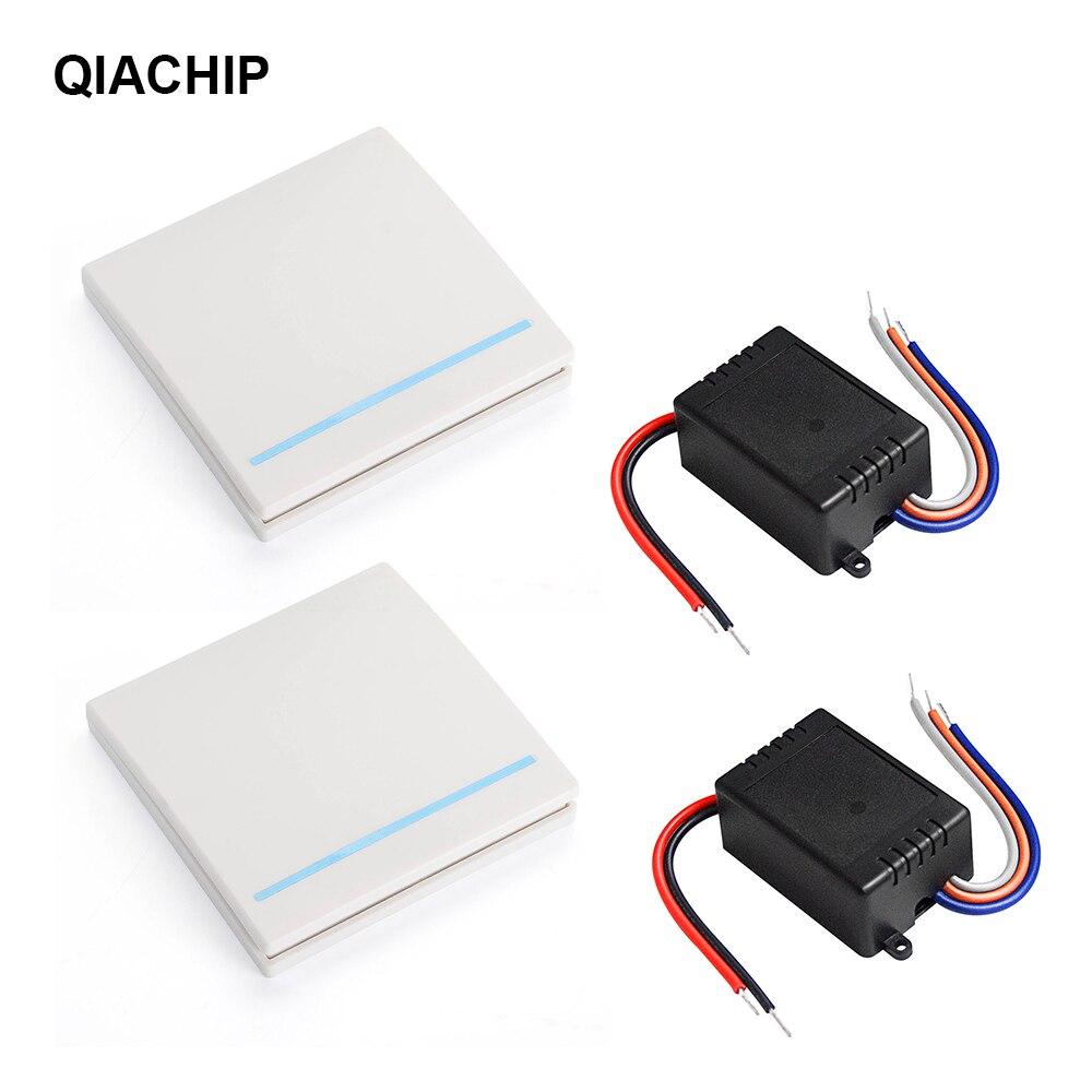 QIACHIP Универсальный вкл./выкл., 433 МГц, 12 В, 24 в пост. Тока, светильник, цифровой радиочастотный выключатель, модуль приемника 86, передатчик для н...