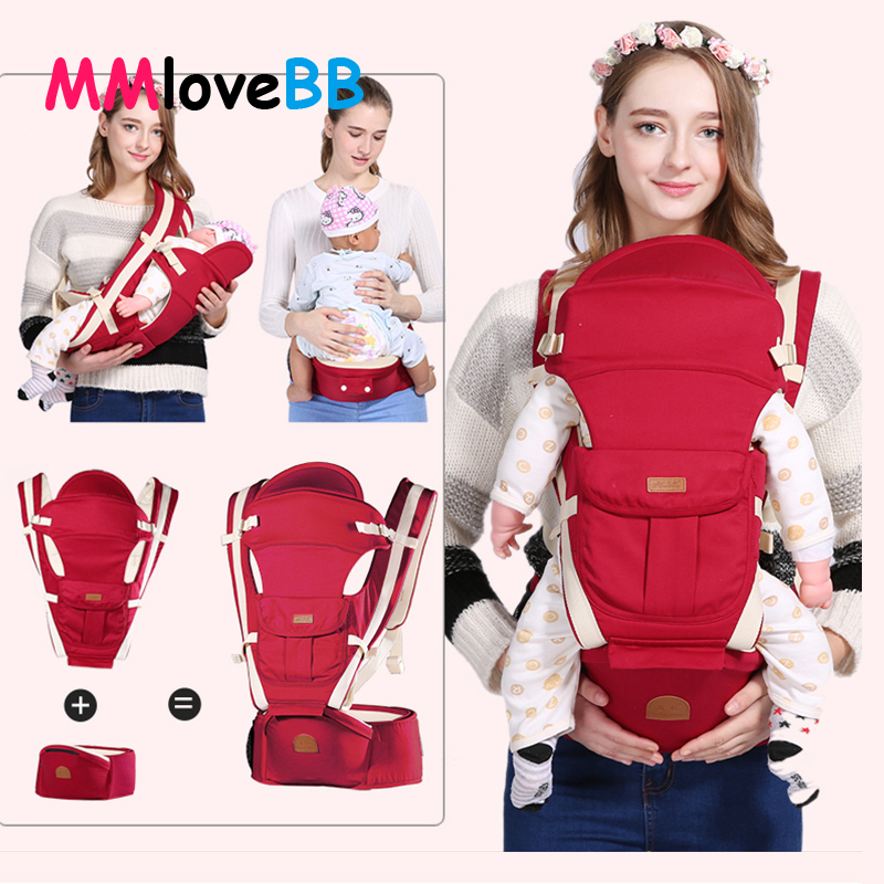 Ergonomic Kangaroo Sling for Baby Infant Baby Baby Carrier Hipseat Waist Carrier Front title=