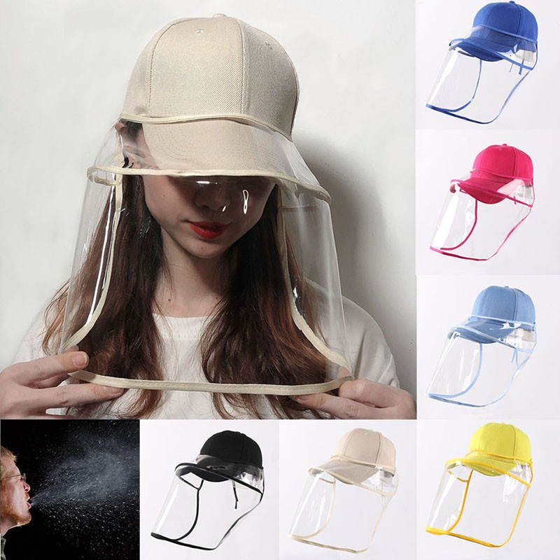 Removable Anti-Fog Saliva Mask Anti-Spitting Protective Baseball Cap Dustproof Cover Face Covering For Bucket Hat Sun Visor Hat
