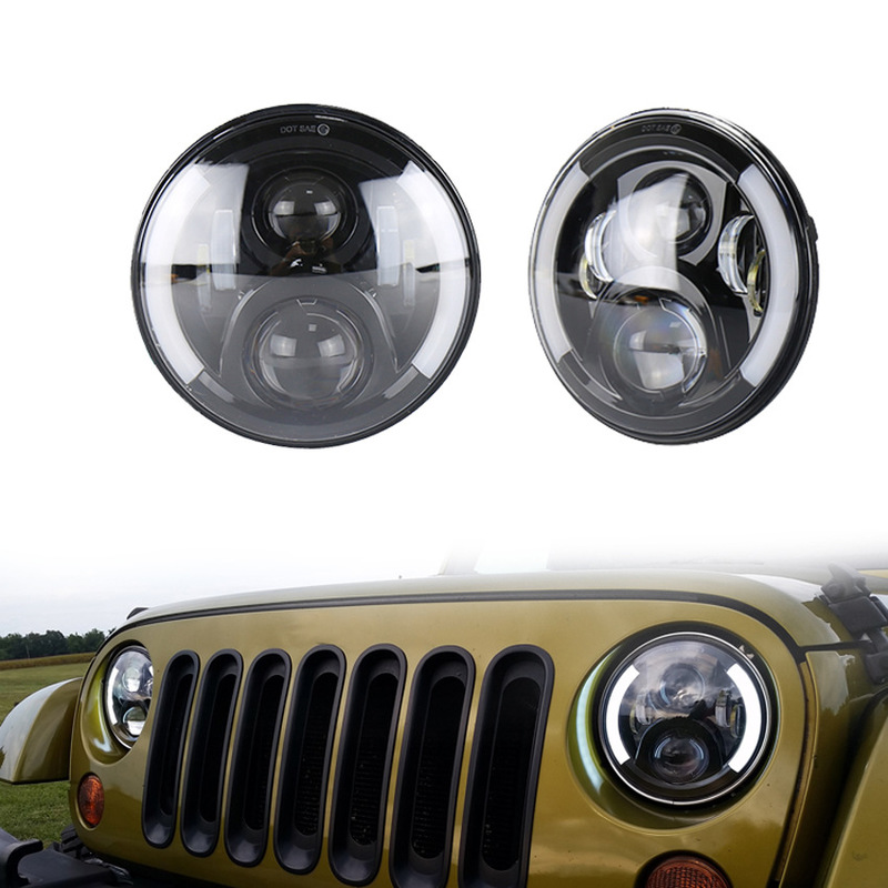 LED Headlights Refitted For The 50W Vehicle Of Levita Harley Motorcycle Headlights 7-inch Jeep Herdsman Headlights