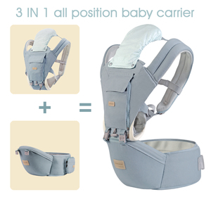 Image 3 - 簡単ビッグ0 36ヶ月綿100% hipseat新生児ベビーキャリアmultifunctionalsローディングクマ20キロ人間工学子供スリングAG0006