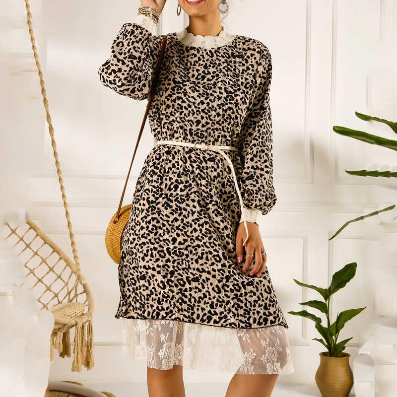 Jesień vintage, w kwiaty szyfonowa, plisowana spódnica plisowana koronka dół midi sukienka kobiety zima 2019 sukienka w kropki vestido sukienki kobieta