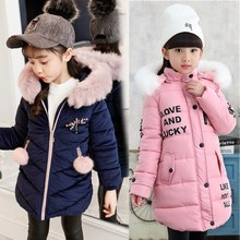Winter Girls Fur Coat Fahion Thick Warm Baby Girl Faux Fur Jackets