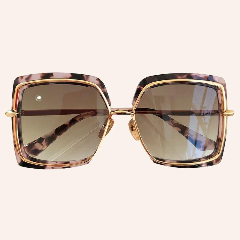 2020 New Square Sunglasses For Women Men Fashion Brand Designer Mirror Sun Glasses For Female With Brand Box