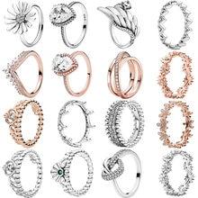 Moda 925 prata esterlina anel daisy flor assinatura anéis feminino noivado aniversário prata jóias