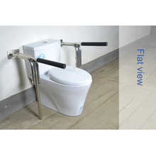 XIYANGZHUSHOU Stainless Steel Folding Armrest  Rack Safety Toilet Elderly Pregnant Woman With Disabilities Skid-Proof