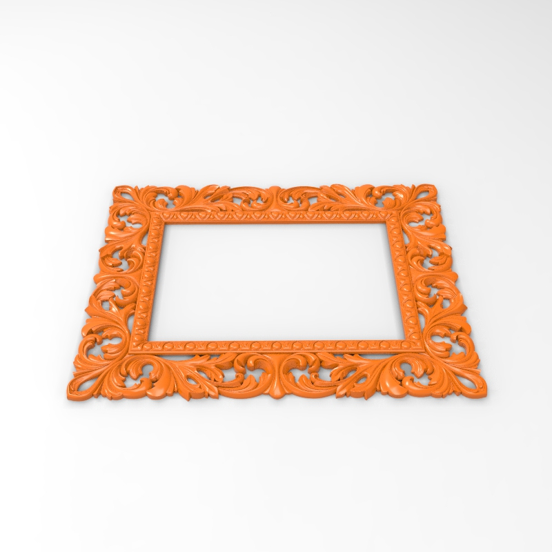 Thin Border Frame 3D Model STL Format Design File CNC Router Carving ArtCAM Aspire Type3 Engraving Carving File A1190