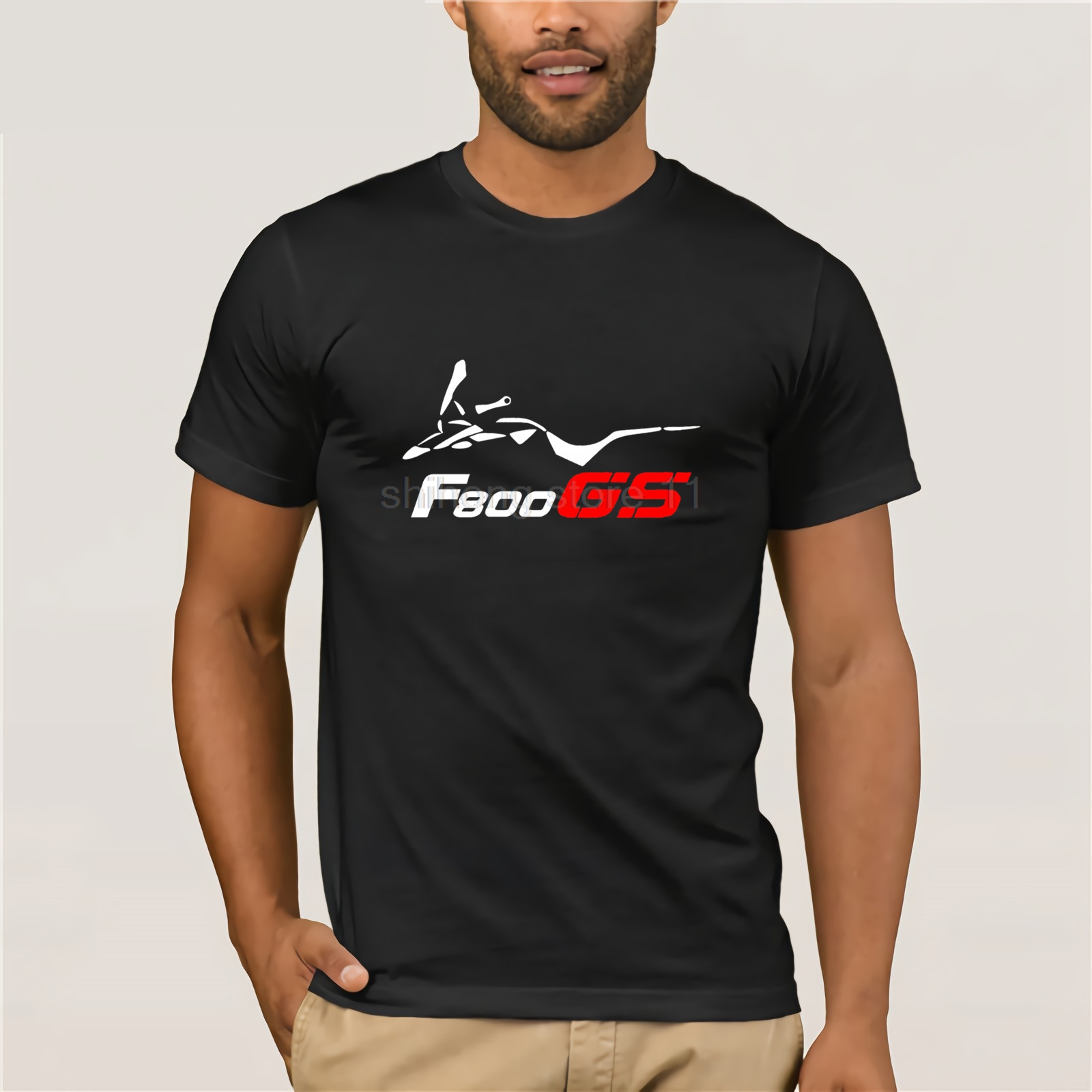 F 800 <font><b>Gs</b></font> Motorcycle - Motif Motard In Flex - Motorcycle 2020 Men Fashion Funny Streetwear Brand Clothing Design <font><b>Tshirt</b></font> Online image