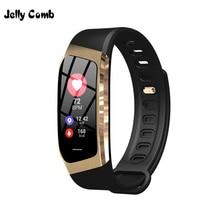 Jelly Comb Men สมาร์ทนาฬิกาสำหรับ Android IOS ความดันโลหิตออกกำลังกาย Dynamic Heart Rate การตรวจสอบขั้นตอนนับ Smartwatch สำหรับสตรี