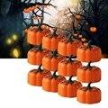 Оранжевый Тыква 3D Тыква беспламенный светильник на батарейках светодиодный светильник для чая s для Хэллоуина, Рождества, фестиваля, свадеб...