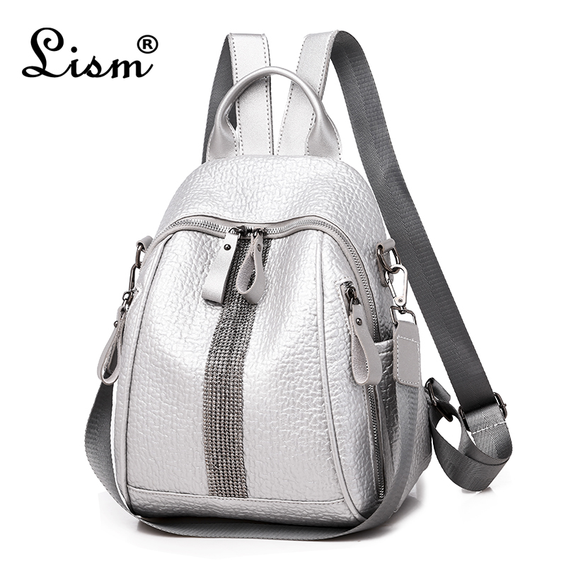 Brand Silver Diamond Backpack 2019 New Elephant Pattern Bag Youth Girl Travel Bag Designer Design High Quality