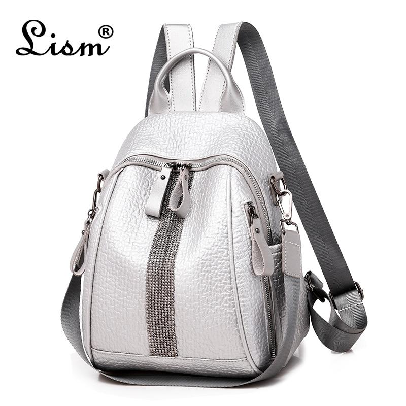 Brand Silver Diamond Backpack 2019 New Elephant Pattern Bag Youth Girl Travel Bag Designer Design High Quality