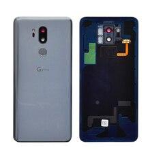 زوزوج زجاج الإسكان الخلفي ل LG G7 ThinQ G7 + غطاء البطارية الغطاء الخلفي مع بصمة شعار