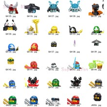 Único ninja kai jay cole zane lloyd wu nya ronin pythor chen pythor kapau cabeça acessórios blocos de construção brinquedos série-082