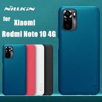 Funda protectora rígida para Xiaomi Redmi Note 10, 4G, color negro, NILLKIN original