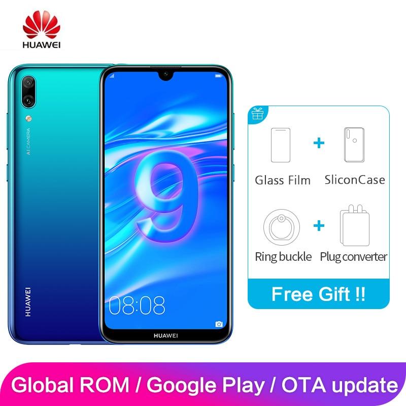 Huawei desfrutar 9 y7 pro rom global 4 gb 128 gb 6.26 polegada snapdragon 13mp 450 octa núcleo android 8.1 smartphone 4000 mah cartão duplo
