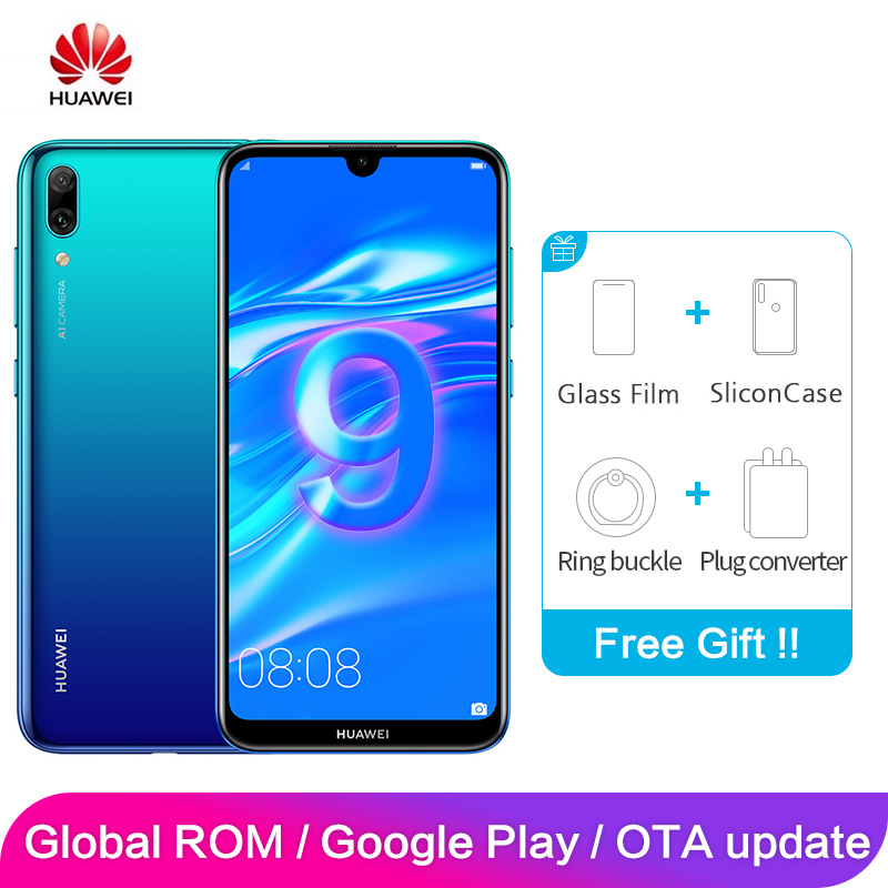 Huawei profiter 9 Y7 Pro Global ROM 4GB 128GB 6.26 pouces Snapdragon 13MP 450 Octa Core Android 8.1 Smartphone 4000mAh double carte