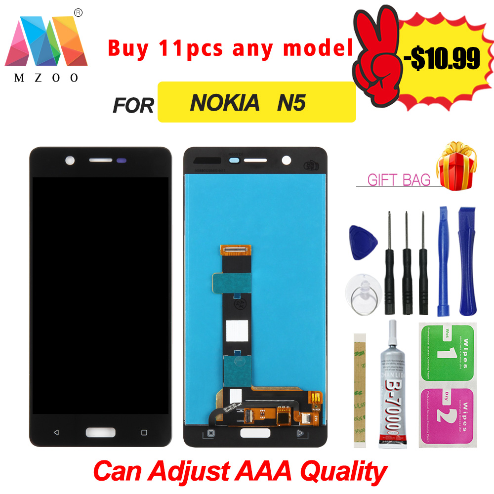 100% Test For Nokia <font><b>5</b></font> N5 <font><b>TA</b></font>-1008 <font><b>TA</b></font>-1030 <font><b>TA</b></font>-<font><b>1053</b></font> LCD Display Sreen Touch Digitizer Replacement Assembly Parts Free Shipping image