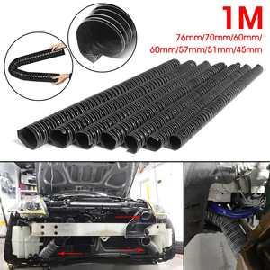 Car Hood Air Intake Pipe 1m Air Ducting Hose Tube 76/70/63/60/57/51/45mm Flexible Filter Pipe Universal(China)