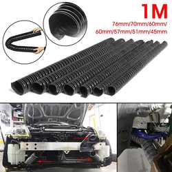 Tubo de entrada de aire para capó de coche 1m tubo de manguera de conducto de aire 76/70/63/60/57/51/45mm Tubo de filtro Flexible Universal