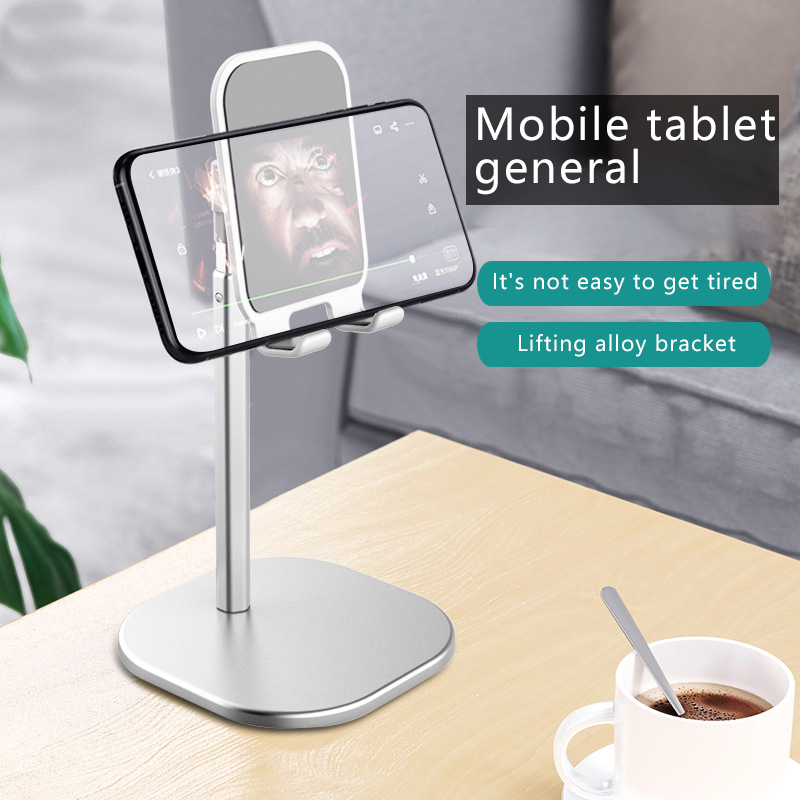 Luxury Smart Phone Tablet Telescopic Desktop Stand Holder For IPhone Samsung Huawei Xiaomi Oneplus Mobile Phone Metal Support
