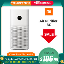 Xiaomi Mijia Mi – purificateur d'air 3C, Version globale, affichage numérique LED, filtre HEPA, application, commande vocale intelligente AI