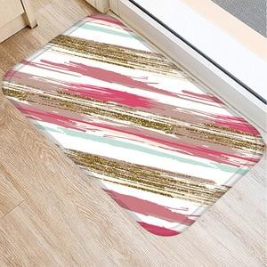Image 5 - 40*60センチメートル幾何顔料非スリップスエードソフトカーペットドアマットキッチンリビングルームのフロアマットホームベッドルーム装飾フロアマット。