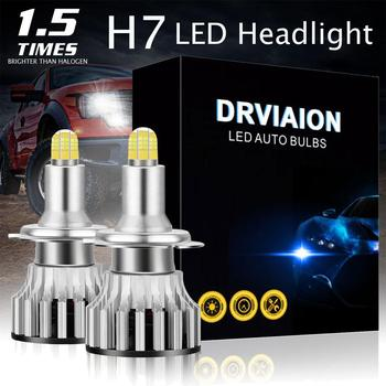 2pcs Auto Car LED H7 18000LM 8 Sides 110W 3D Led Headlights Bulbs High Power 360 degree Lamp High Or Low Beam image