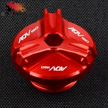 Neue CNC Zubehör Für HONDA ADV150 adv 150 2019 2020 Motorrad Aluminium Red Motor Öl Füllstoff Abdeckung Stecker Kappe schraube abdeckung