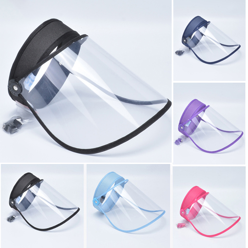 1PCS Adjustable Women Men's Anti-Dust Cap Saliva Prevention With Transparent Protective Cover 5 Colors