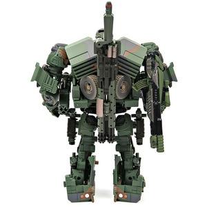Image 2 - التحول روبوت WJ M02 التمويه الدخان المخبر نماذج من الشاحنات عمل الشكل سبيكة نموذج جمع اللعب الهدايا