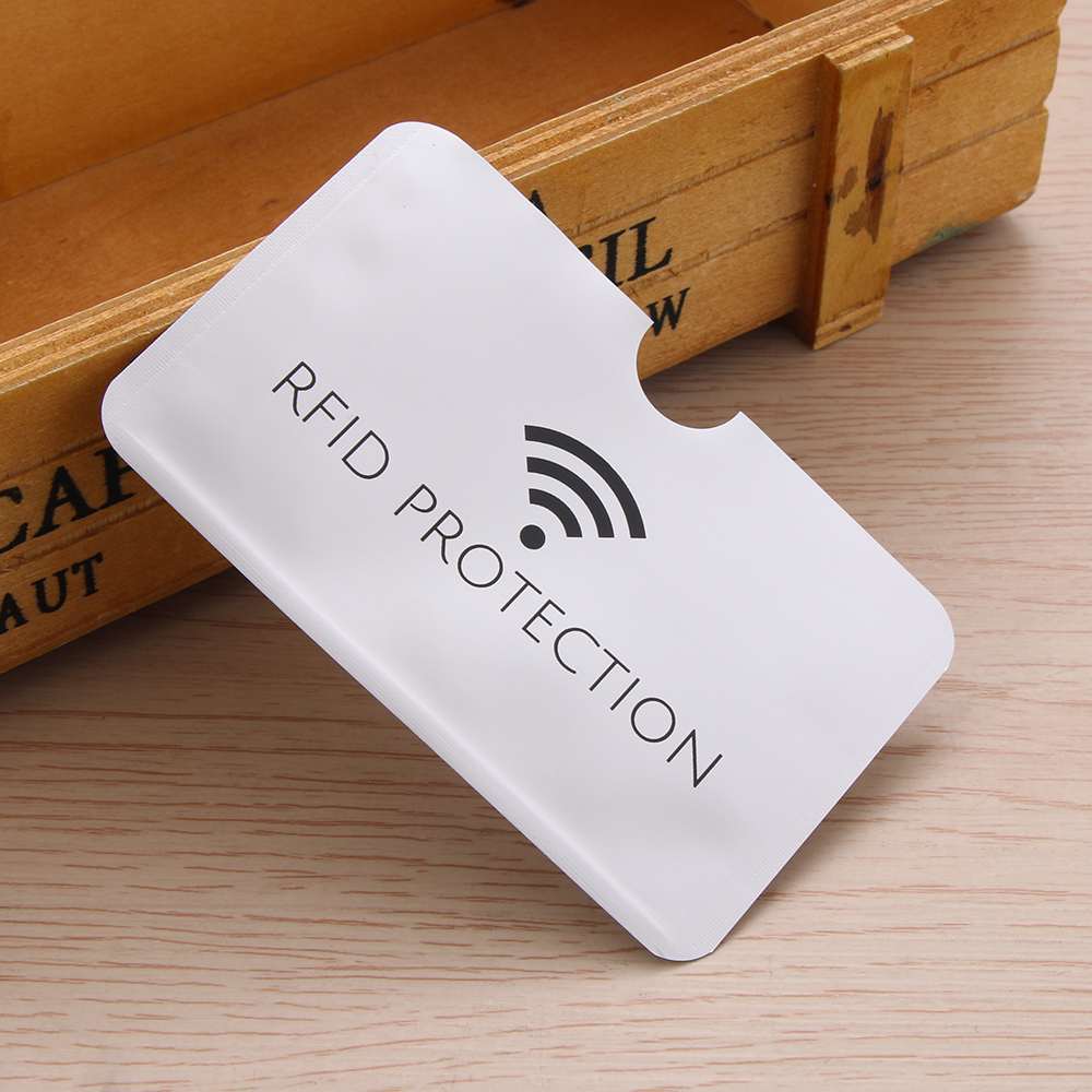 10/20Pcs Anti Rfid ID Card Holder Silver Laser Aluminium Wallet  Blocking Reader Lock Bank Card Case Credit Cards Covers